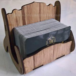 جا کارتی چوبی طرح لیزر رایگان 1027 با کارت ویزیت