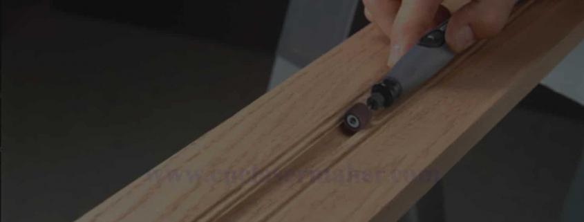 آموزش سمباده زدن چوب سی ان سی شده قبل از وکیوم