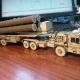 پازل سه بعدی تریلی با موشک s400 طرح رایگان لیزر