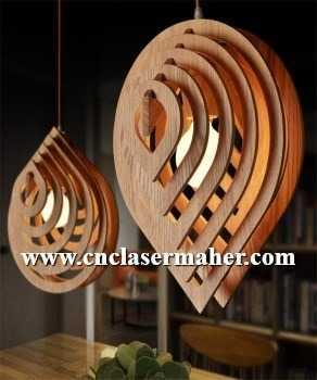 gatre - لوستر چوبی قطره طرح 1004