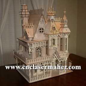 doll house - خانه چوبی قدیمی طرح 1020