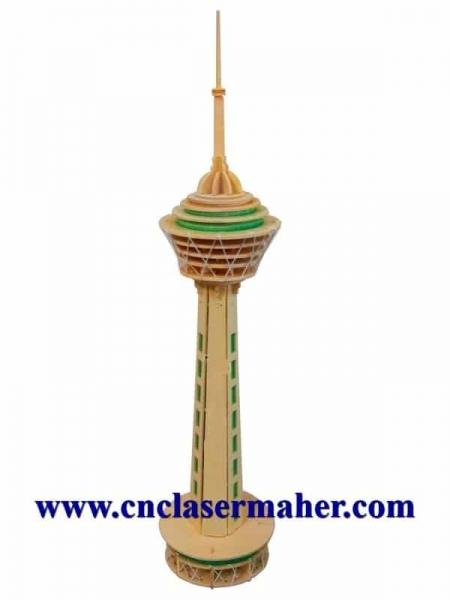 borjmilad 450x600 - طرح پازل سه بعدی برج میلاد طرح 1036