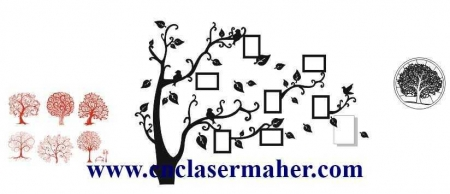 derakht 450x194 - طرح استیکر دیواری درخت و قاب عکس طرح 1051