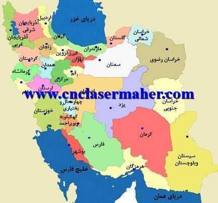 iran - نقشه ایران طرح 1061