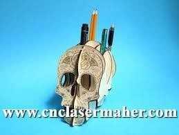 skull - جا مدادی جمجمه طرح 1066