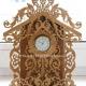 الگوی ساعت رو میزی چوبی با فرمت کورل برای دستگاه لیزر طرح ۱۱۰۱ از نمای روبرو