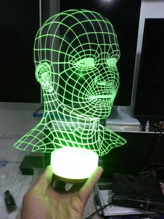 الگوی بالبینگ سر انسان با فرمت کورل برای دستگاه لیزر طرح ۱۱۰6 از روبرو