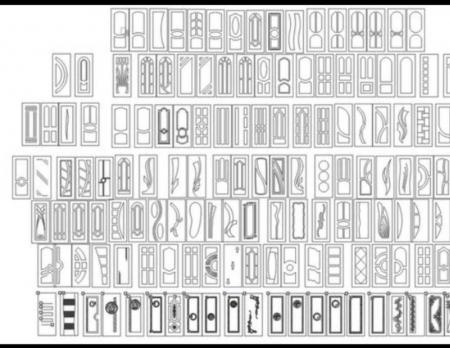 الگوی طرحهای درب اتاق با فرمت eps کورل و آرتکم مخصوص سی ان سی منبت طرح 1107 از جلو
