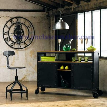 ساعت چوبی چرخ دنده طرح لیزر رایگان در کارگاه