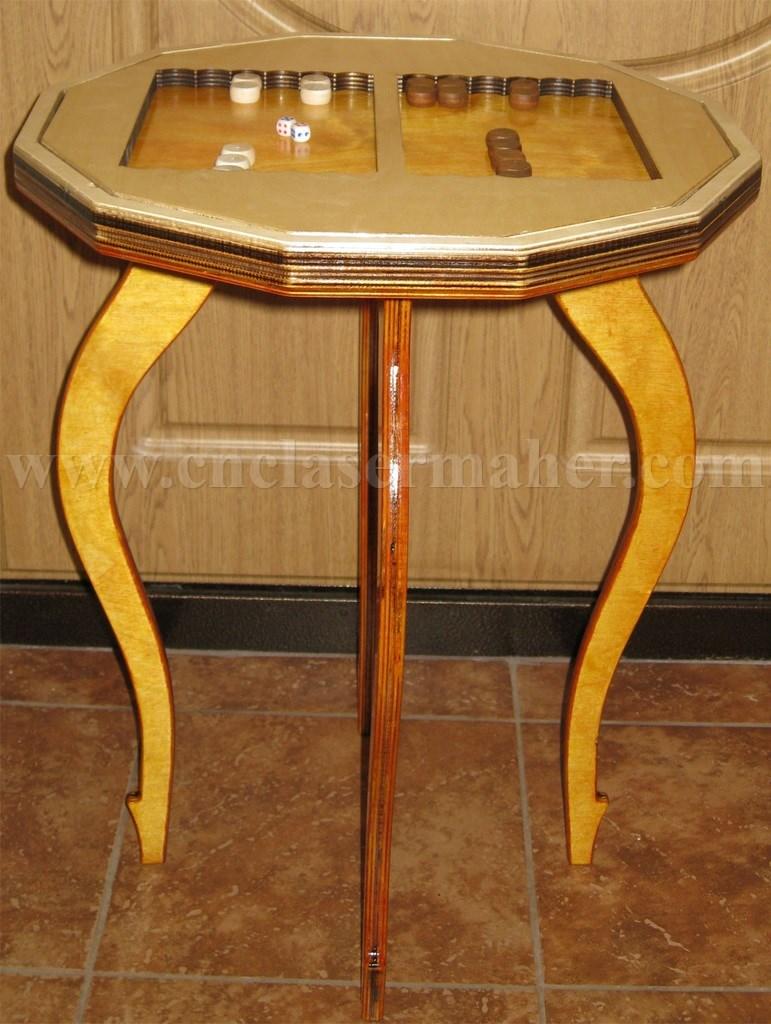 میز تخته نرد چوبی طرح سی ان سی رایگان