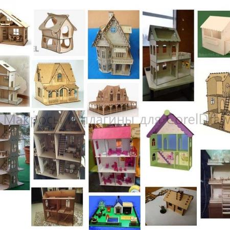 پازل سه بعدی ماکت خانه در بیست مدل طرح رایگان لیزر ماکت خانه