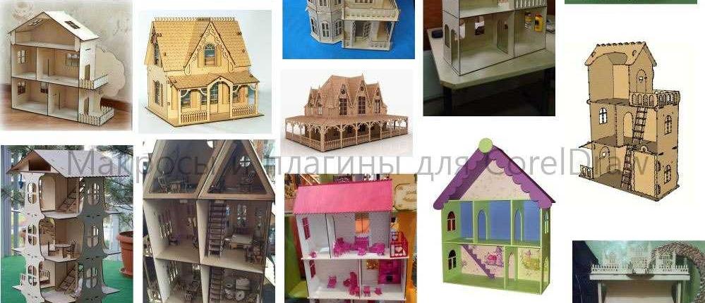 پازل سه بعدی خانه در بیست مدل طرح رایگان لیزر 1132
