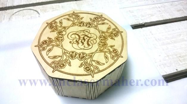 جعبه فنری چوبی طرح لیزر رایگان