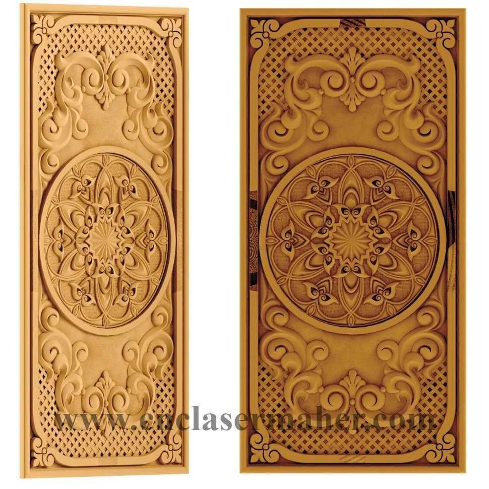 صفحه تخته نرد چوبی طرح cnc رایگان 1157 از نماهای مختلف