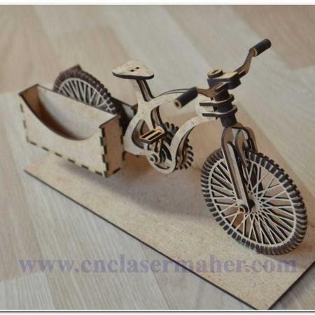 پازل سه بعدی دوچرخه طرح رایگان لیزر 1144