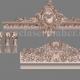 پک کامل تاج، ستون و کتیبه چوبی طرح cnc رایگان 1170