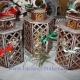 جا شمعی چوبی فانتزی طرح لیزری رایگان 1141