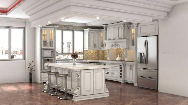 کابینت آشپزخانه ممبران، هایگلس و MDF مدرن