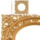 قاب آینه چوبی نقش برجسته طرح سی ان سی 1184