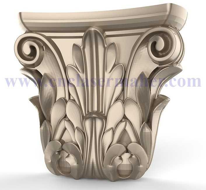 گل سرستون چوبی کابینت ممبران طرح cnc رایگان 1191