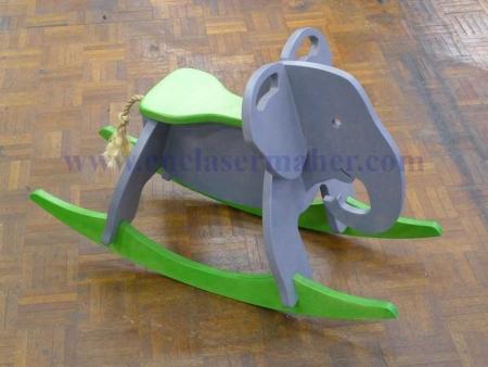 راکر چوبی فیل کودک طرح سی انسی رایگان 1214