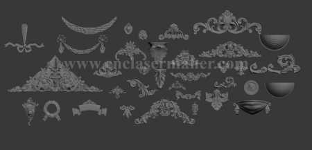 مجموعه بی نظیر سرستون ستون گل حاشیه تاج و هرم چوبی 1218