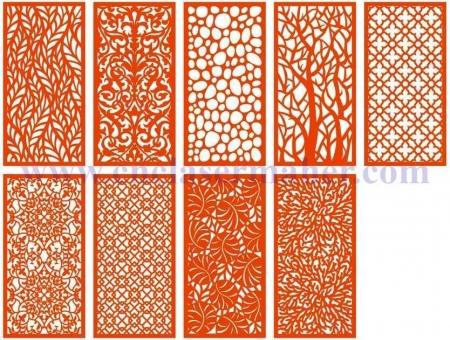 پارتیشن چوبی در نه مدل، طرح لیزر و cnc رایگان 1219
