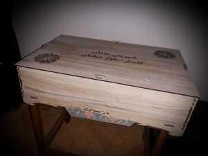جعبه چوبی آجیل و شکلات