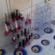 جا لوازم آرایشی رو میزی شیشه ای طرح دستگاه برش و حکاکی لیزر 1228