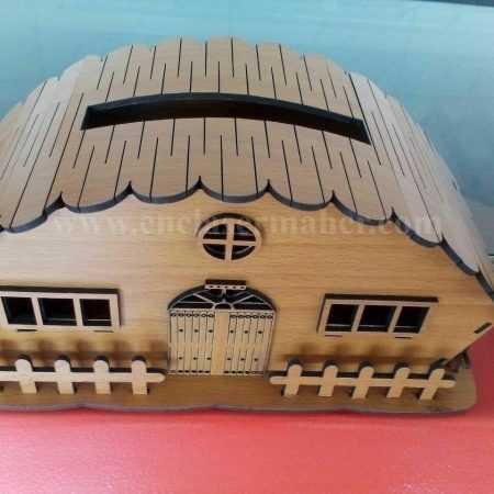 جا دستمال کاغذی چوبی طرح دستگاه برش و حکاکی لیزر 1135