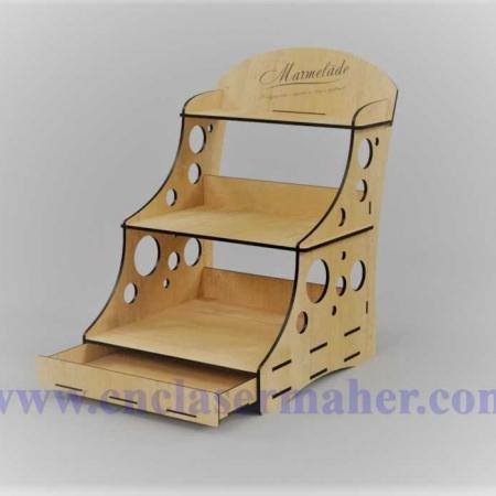 استند رو میزی چوبی لوازم التحریر طرح دستگاه برش لیزر 1248