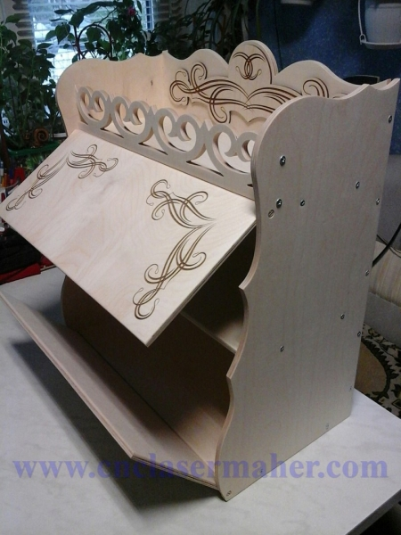 جا ادویه ای چوبی طرح دستگاه برش و حکاکی لیزر 1247
