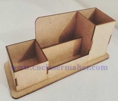 جا مدادی تبلیغاتی چوبی خام طرح دستگاه برش و حکاکی لیزر co2 1251