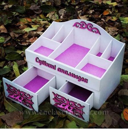 جعبه لوازم آرایش طرح دستگاه برش و حکاکی لیزر 1245
