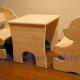 میز و صندلی چوبی خرس طرح دستگاه cnc منبت چوب 1253