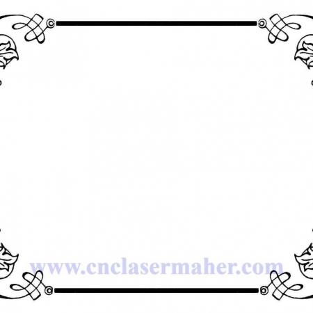 پکیج وکتور گل و حاشیه طرح دستگاه cnc و لیزر 1264