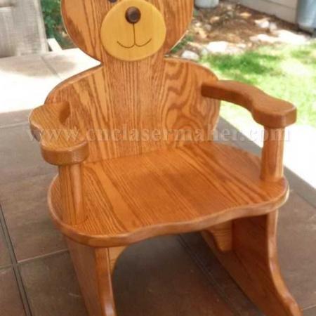 صندلی گهواره ای چوبی راکر کودک چوبی طرح دستگاه cnc منبت 1273