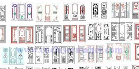 پکیج درب ممبران طرح دستگاه سی ان سی منبت 1267