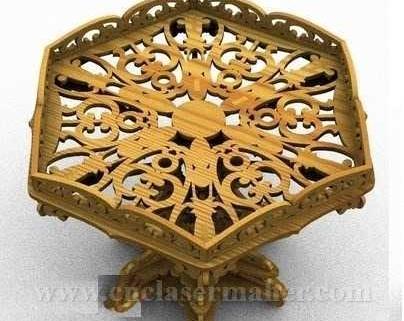 سبد چوبی میوه طرح دستگاه برش و حکاکی لیزر 1274