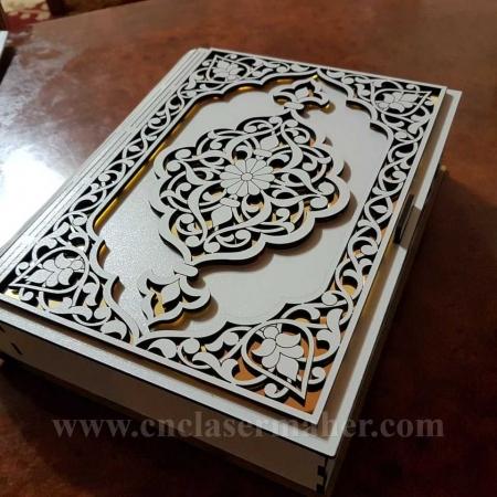 جعبه کتاب چوبی طرح دستگاه برش و حکاکی لیزر 1285