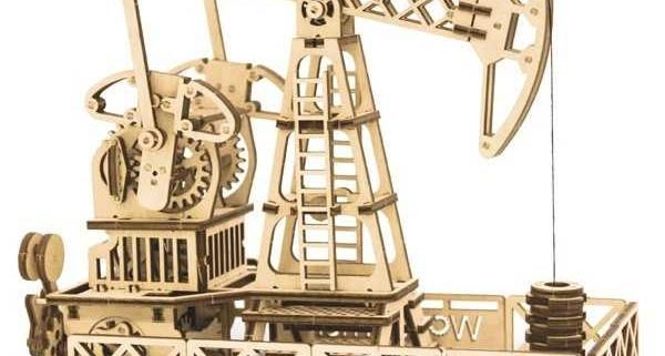 پازل سه بعدی دکل حفاری طرح دستگاه برش لیزر 1277