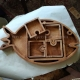آجیل خوری چوبی ماهی طرح دستگاه سی انسی منبت 1295