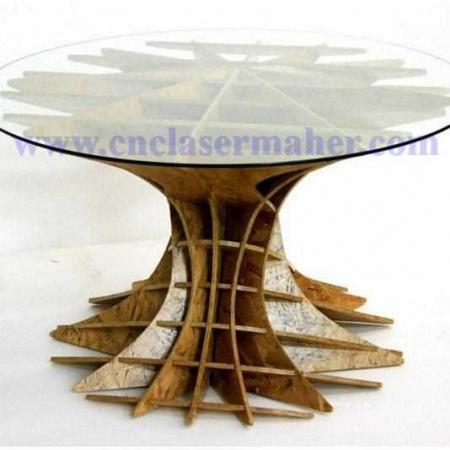 میز پارامتریک چوبی طرح دستگاه سی انسی منبت 1302