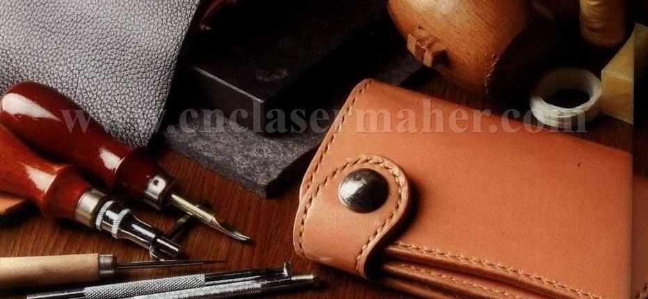 کیف پول چرم طبیعی طرح دستگاه برش لیزر 1303