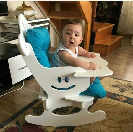 صندلی چوبی راکر کودک