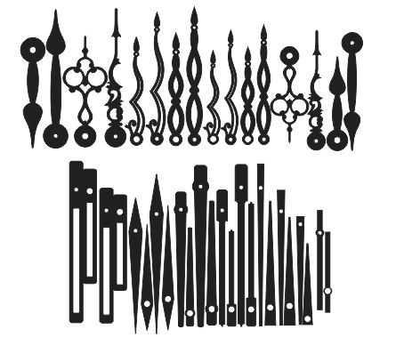 عقربه ساعت چوبی در مدل های متنوع طرح برش لیزری 1317