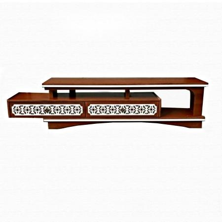 میز تلویزیون عمده ام دی اف طرح جدید ma-n108 از نمای سفید