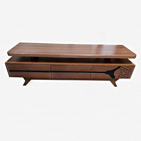 میز تلویزیون عمده MDF کلاسیک MA-N104 از نمای روبرو