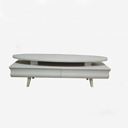 میز تلویزیون MDF عمده ال سی دی MA-N105 از نمای سفید