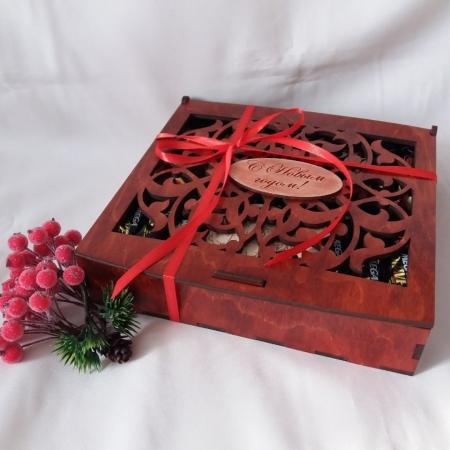 جعبه آجیل و شکلات طرح برش لیزر دستگاه لیزر 1328